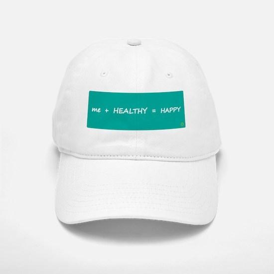 Design - HAPPY MATH rounded corners - 8x3in Baseball Baseball Cap