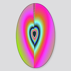 Broken-Heart-Fractal-iPad case Sticker (Oval)