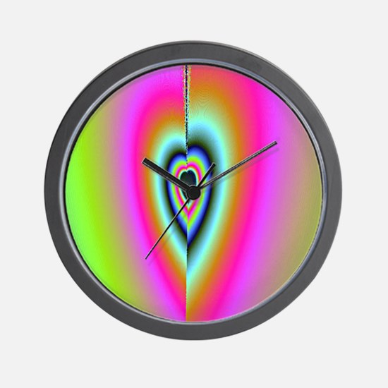 Broken-Heart-Fractal-iPad 2 case Wall Clock