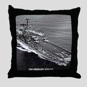 oriskany cva framed panel print Throw Pillow