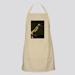 Mantis text with MG logo Apron