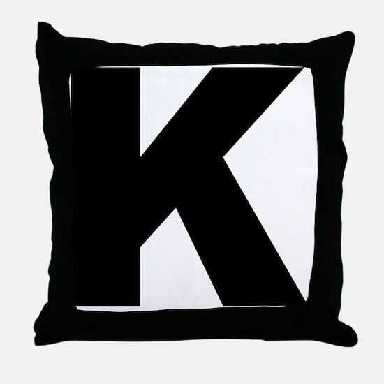 k_arial_l Throw Pillow