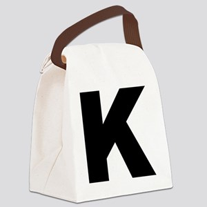 k_arial_l Canvas Lunch Bag