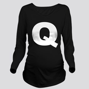 q_arial_d Long Sleeve Maternity T-Shirt