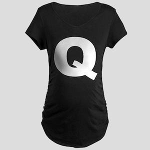 q_arial_d Maternity Dark T-Shirt