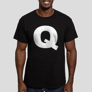 q_arial_d Men's Fitted T-Shirt (dark)