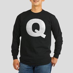 q_arial_d Long Sleeve Dark T-Shirt