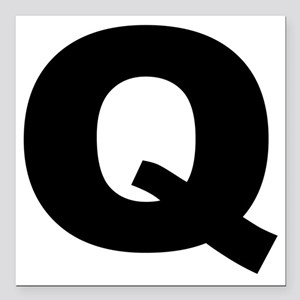 "q_arial_l Square Car Magnet 3"" x 3"""