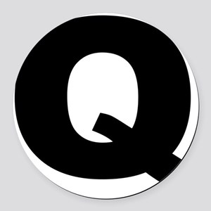 q_arial_l Round Car Magnet