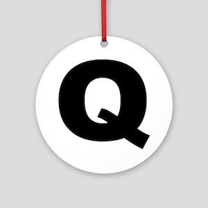 q_arial_l Round Ornament