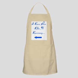 Love her like a lovesong Apron