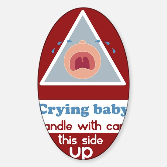 crying baby BOY Sticker (Oval)