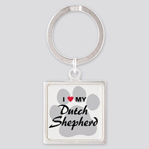 dutch-shepherd Square Keychain