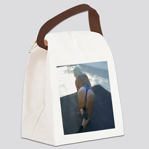Bottoms UP ! Canvas Lunch Bag