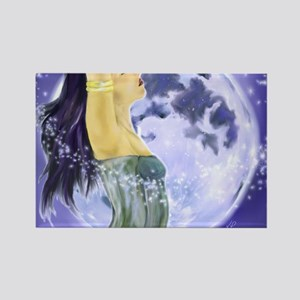 9x12_print magical moon Rectangle Magnet
