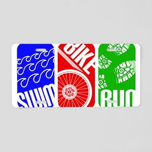Triathlon TRI Swim Bike Run Rectangles Aluminum Li