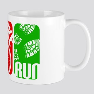 Triathlon TRI Swim Bike Run Rectangles Mugs