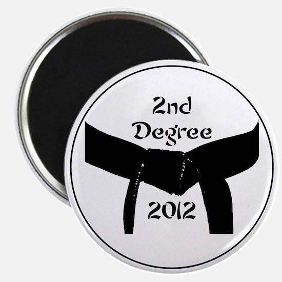 Martial Arts 2nd Degree Black Belt Magnet