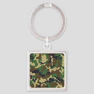 Camo Pattern Square Keychain