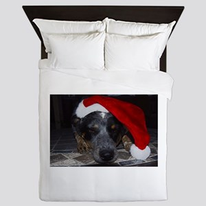 Christmas Cattle Dog Queen Duvet
