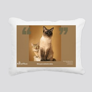 Elvis and Mona Marie Rectangular Canvas Pillow