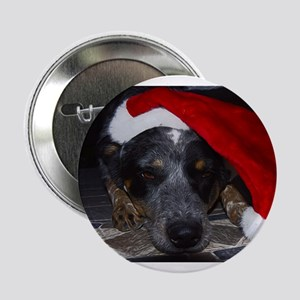 "Christmas Cattle Dog 2.25"" Button"