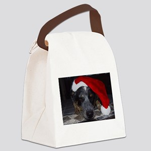 Christmas Cattle Dog Canvas Lunch Bag