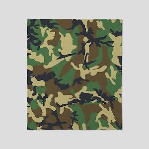 Camo Pattern Throw Blanket