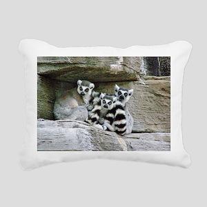 Lemurs Rectangular Canvas Pillow