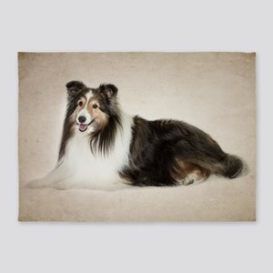Sheltie 5'X7'area Rug