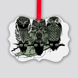 Three Owls Picture Ornament