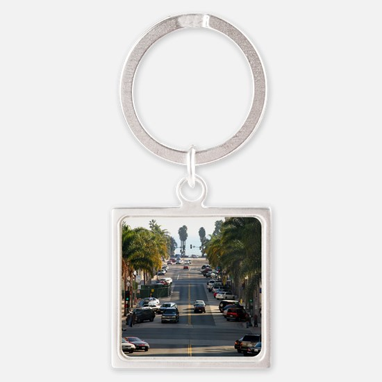 California Street Square Keychain