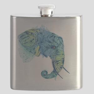 Blue Elephant Flask