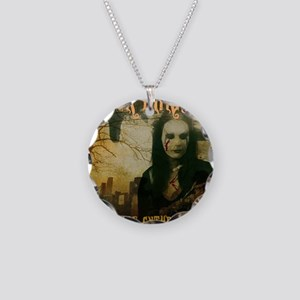 BookCover Necklace Circle Charm