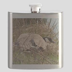 gooselapelsticker Flask