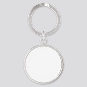 Like Big Mutts White Round Keychain