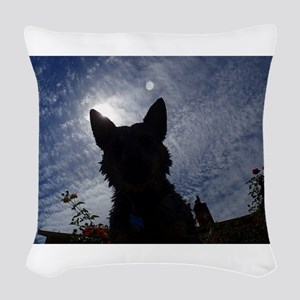 Stealthy Cattle Dog Woven Throw Pillow