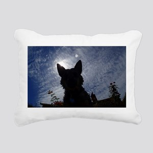 Stealthy Cattle Dog Rectangular Canvas Pillow