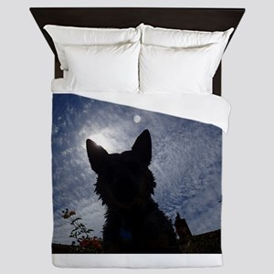 Stealthy Cattle Dog Queen Duvet