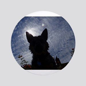 "Stealthy Cattle Dog 3.5"" Button"