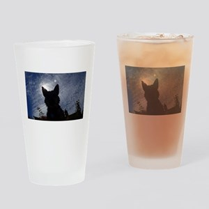 Stealthy Cattle Dog Drinking Glass