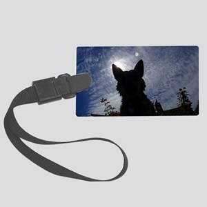 Stealthy Cattle Dog Luggage Tag