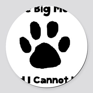 Like Big Mutts Black Round Car Magnet