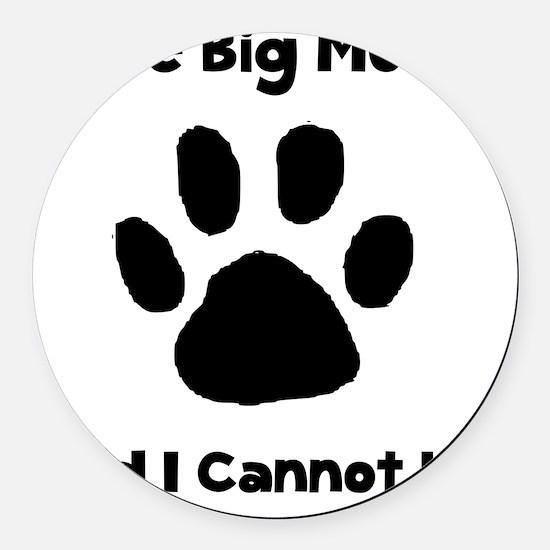 Like Big Mutts Black Round Car Magnet