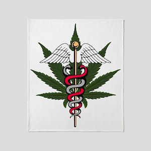 medical marijuana Throw Blanket