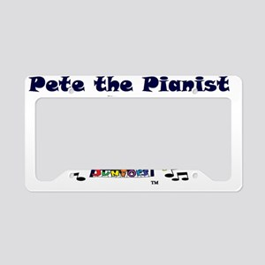 pete the pianist-trans_logo License Plate Holder