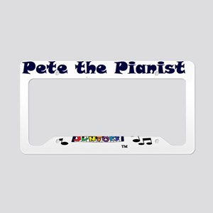 pete the pianist dressy-trans License Plate Holder