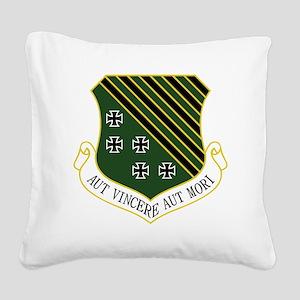1st FW - Aut Vincere Aut Mori Square Canvas Pillow
