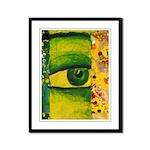 The Eye - Gold & Emerald Framed Panel Print