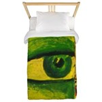 The Eye - Gold & Emerald Awareness Twin Duvet